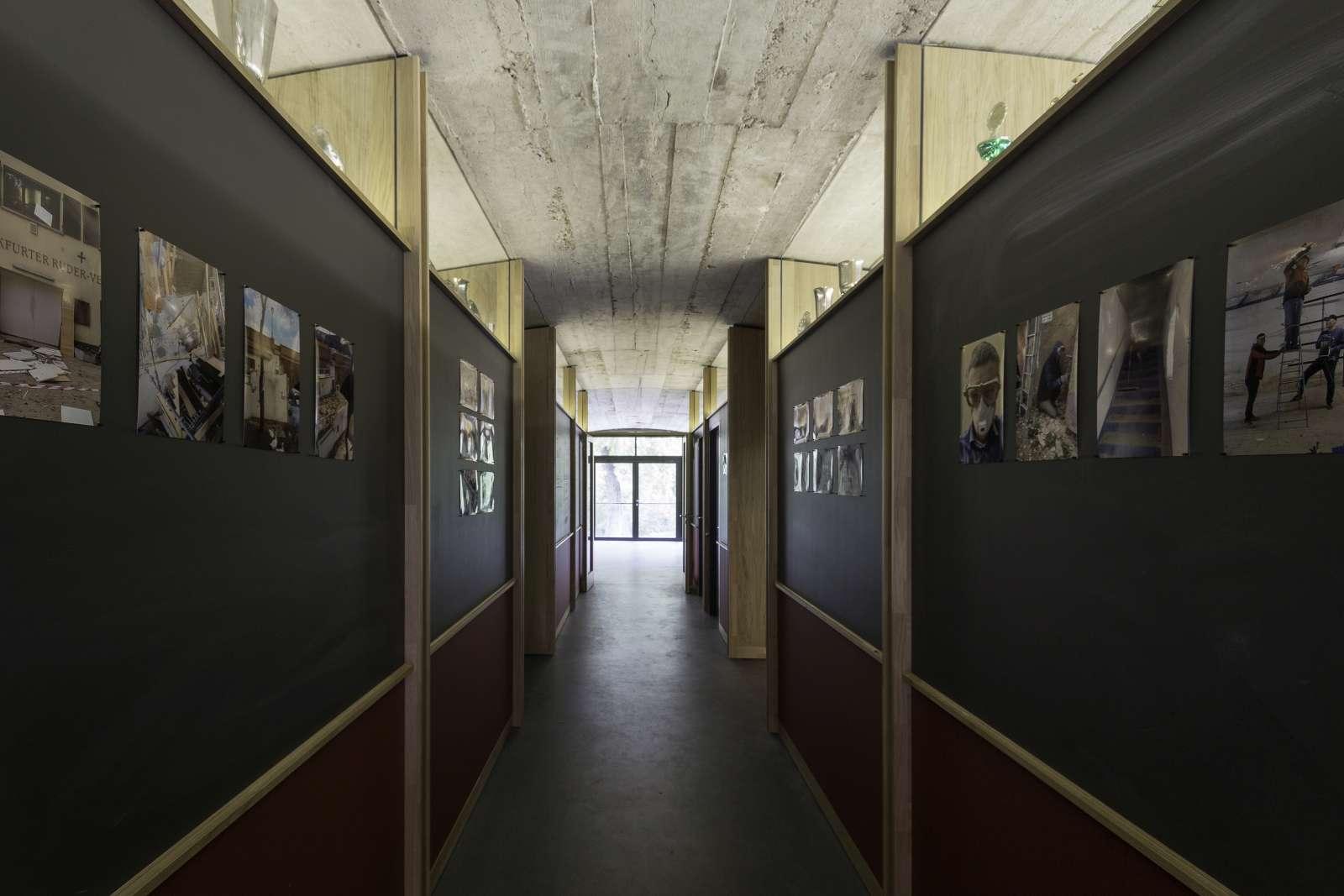 Fotoausstellung über die Renovierungsarbeiten